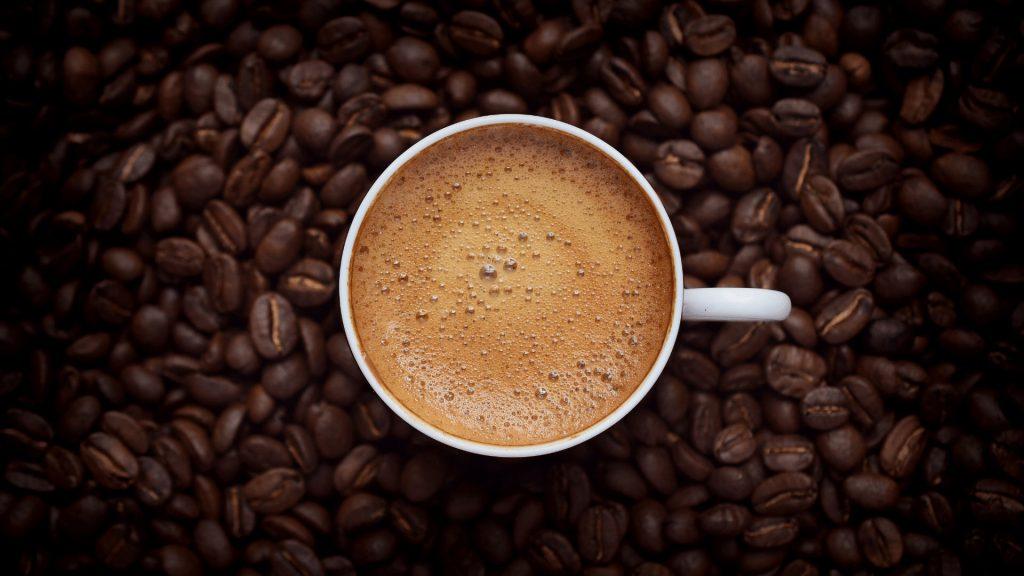Tasting coffee cup